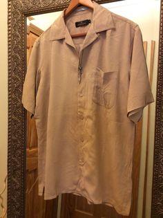 BUGATCHI UOMO Hawaiian Men's Shirt, 100% Silk, Size: M #BugatchiUomo #Hawaiian #HawaiianShirt #BugatchiUomoShirt #Mens #Shirt #SilkShirt #SizeM
