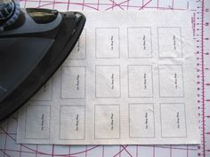 Sew Many Ways...: Make Your Own Handmade Fabric Labels...