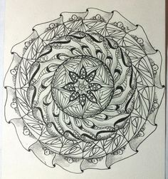 https://flic.kr/p/bsD8ce | First Zendala | This was fun to try ~a whole new process!