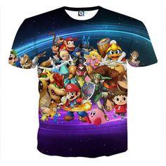 Nintendo Legend Characters Mario Samus Zelda Pokemon T-Shirt    #Nintendo #Legend #Characters #Mario #Samus #Zelda #Pokemon #TShirt