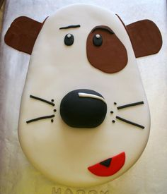 Dog cake-no instructions, just a picture for inspiration.