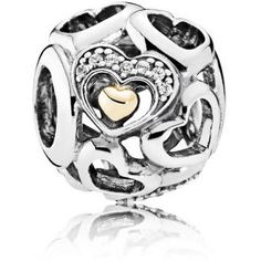 Authentic 925 Sterling Silver Bead Charm Openwork Hearts of Romance With Crystal Beads Fit Pandora Bracelet Bangle DIY Jewelry Argent Sterling, Sterling Silver, Diy Jewelry, Jewelry Making, Bangle Bracelets, Bangles, Charms Pandora, Romance, Crystal Beads