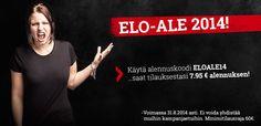 ELO-ALE 2014 tarjoaa 7,95€ alennuskoodin, joten nyt on täydellinen hetki tilata puuttuvat syysvaatteet tai esimerkiksi suosikkibändien uutuuslevyt! Klikkaa säästämään:  http://www.emp.fi/lis_2888_listunit/?campaign=emp/fi/sm/pin/promotion/desk/29082014-elo-ale-takit&sort=title