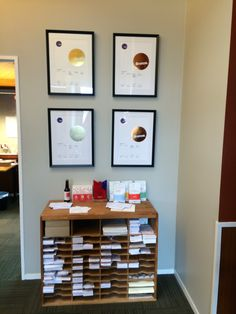 Best Design Awards Certificates on display