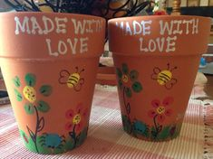 Spring Fingerprint Art- flower pots Easter, mothers day, teacher appreciation, - Easy Crafts for All Mothers Day Flower Pot, Mothers Day Crafts For Kids, Gifts For Kids, Flower Pot Crafts, Clay Pot Crafts, Baby Crafts, Toddler Crafts, Kid Crafts, Preschool Crafts