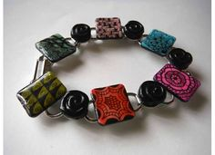 Zentangle art Bracelet unique designs with glass bead by BoTangles, $27.00