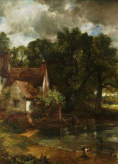 The Hay Wain, Detail. (1821) by John Constable (1776–1837)
