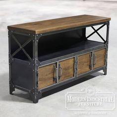 𝐇𝐚𝐧𝐝𝐦𝐚𝐝𝐞 𝐢𝐧 𝐭𝐡𝐞 𝐔𝐒𝐀 Houston, Coffee Bar Station, Industrial Design Portfolio, Modern Industrial Furniture, Iron Shelf, Solid Doors, Structure Metal, Media Consoles, Komodo