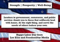 A Tribute to Leaders on the Labor Day Holiday