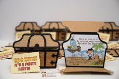 Jake and the Neverland Pirates Party Invitations #handmadeinvitations #pirateparty #pirateinvitations #invitations #jakeandtheneverland #pirateparty