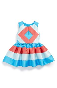 Halabaloo Sleeveless Colorblock Fit   Flare Dress (Baby Girls) available at   Nordstrom 468c3a0b620