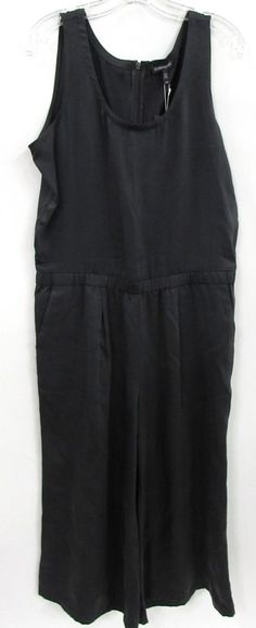 cf01adcbfbd NWT Women s Eileen Fisher Dark Grey Zip Up Sleeveless Jumpsuit Romper Size  M  fashion  clothing  shoes  accessories  womensclothing  jumpsuitsrompers  (ebay ...