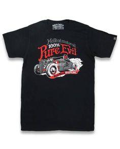 Hotrod Hellcat Herren DEVIL ROD T-Shirts.Biker,Tattoo,Custom,Oldschool Style