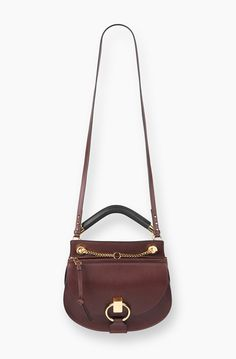 SMALL HUDSON BAG IN SMOOTH CALFSKIN WITH SUEDE CALFSKIN TASSEL