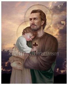 Saint Joseph and Baby Jesus Feast day: March 19 Patronage: The Catholic Church, unborn children, fathers, purity, immigrants, workers, against doubt and hesitation, and of a happy death