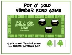 Practice completing number bonds with this St. Patrick's Day themed game.