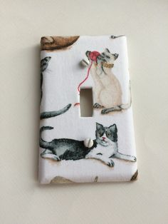 Check out this kitty cat switch plate in my Etsy shop https://www.etsy.com/listing/465608935/cat-switch-plate-cover-kitty-light #kittycat