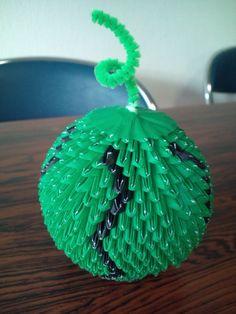 3D Origami - Whole Watermelon