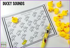 The Kindergarten Smorgasboard Rubber Duckies for Learning Letters, Sounds, and More