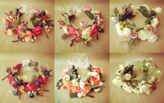Hair Flower Garlands Wreath Crown Floral Festival Hippy Hipster Bridal Boho Faux