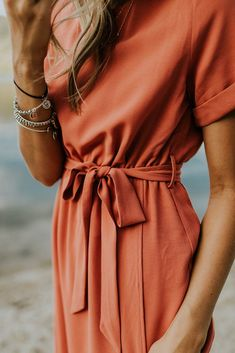 Gathered Waist Wrap Dress | ROOLEE