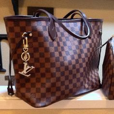 b845dec42328 Louis Vuitton Handbag Neverfull GM-- since everyone has the regular LV  print. This one is a little more subdued.