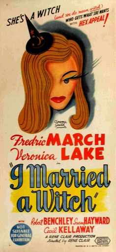 I Married A Witch - Veronica Lake is lovely, unfortunately not much of an actress. Very antiquated, and not much chemistry between them.