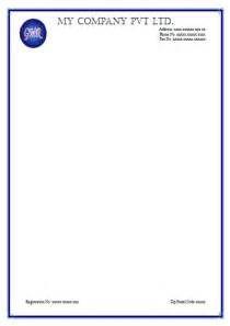 sample letterhead format