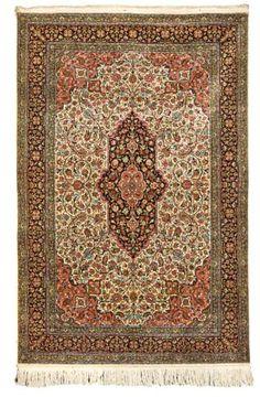 silk Qum rug   --218cm. x 145cm.(7ft.2in. x 4ft.9in.) I Christie's Sale 5755
