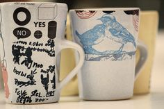 cups4 Christina Roos My Friend, Friends, Lost & Found, Clay, Ceramics, Mugs, Tableware, How To Make, Amigos