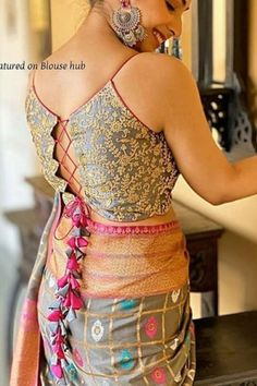 Bridal Blouse Design - bridal blouse designs heavy work bridal blouse designs latest bridal blouse designs south indian blouse designs dori style Source by latestsareeblousedesigns - Saree Blouse Neck Designs, Fancy Blouse Designs, Bridal Blouse Designs, Shagun Blouse Designs, Latest Blouse Neck Designs, Latest Blouse Patterns, Brocade Blouse Designs, Shirt Designs, Blouse Lehenga