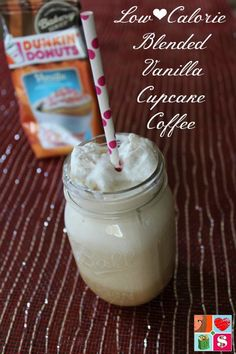 Blended Vanilla Cupcake Coffee Recipe from Having Fun Saving.  This Low Calorie Blended Vanilla Cupcake Coffee Recipe is the perfect way to celebrate the small moments in life. Make one for yourself today!