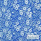 Calico Blue Burleigh floral luxury traditional paper table napkins 20 in pack