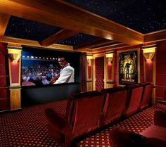 Home Theater. My all-time favorite wish for my house complete with concession s Home Theater. My all-time favorite wish for my house complete with concession s Home Theater Room Design, Movie Theater Rooms, Best Home Theater, Cinema Room, Home Interior Design, Theatre Rooms, Dream Theater, Basement Movie Room, Basement Bars