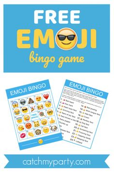 Download This Free Fantastic Printable Emoji Bingo Game! | Catch My Party Party Bus Games, Bingo Games, Game Party, Party Party, Emoji Bingo, Emoji Games, Diy Unicorn Birthday Party, Birthday Party Games, Birthday Activities