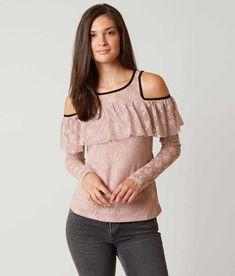 BKE Boutique Cold Shoulder Top - Women's Shirts/Blouses in Mauve | Buckle