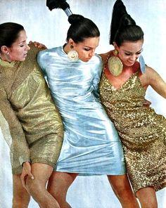 Metallic dresses, 1966