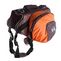 Dog Backpack CarrierCD Dog Carrier Pet Saddle Bag Pet Dog Backpack Carrier Adjustable Straps Harness Waterproof Nylon Carrier Traveling Carrying Bag for Dogs M Orange ** Check this awesome product by going to the link at the image.