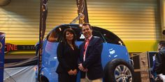 Bill Davis with Simone Lloyd on their stand at the NEC