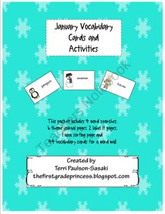 January Vocabulary Cards and Activities product from The-First-Grade-Princess on TeachersNotebook.com