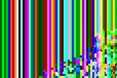 """yearoftheglitch:  036 of 366 A completely white image 4000x4000 after 5 passes of hex editing and some selective cropping. Technique: data bending (one of a kind 8""""x10"""" signed artist print available for purchase)"""
