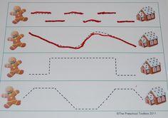 Gingerbread Theme Pre-Writing Free Printable • The Preschool Toolbox BlogThe Preschool Toolbox Blog