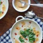 Roasted Cauliflower Soup with Spicy Peanut Butter Crème « Peanut Butter Recipes