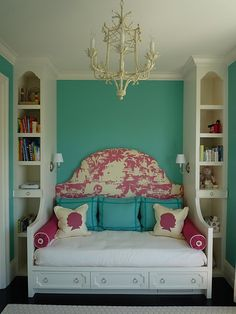 "Love the colors and attention to detail - Great idea for a small guest room... ""we no longer need an office"" room..."