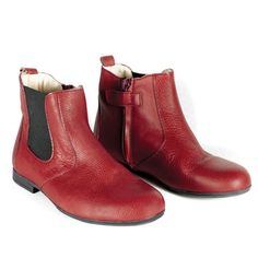 Chelsea Boot - Red Leather - Shoes - Accessories
