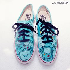 BMO from Adventure Time Custom painted Shoes FANART