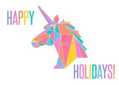 Happy Holidays LLR Unicorn
