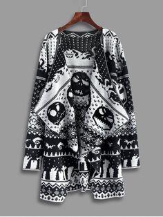 Up to 70% OFF! Halloween Skull Knitting Tunic Cardigan. Zaful,zaful.com,zaful online shopping, sweaters&cardigans, sweater,sweaters,cardigans,choker sweater,chokers,chunky sweater,chunky,cardigans for women, knit, knitted, knitting, knitwear, cardigan, cardigan outfit,women fashion,winter outfits,winter fashion,fall outfits,fall fashion, halloween costumes,halloween,halloween outfits,halloween tops. @zaful Extra 10% OFF Code:ZF2017