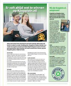 Deze week in Zandvoort pagina groot in de huis aan huis bladen.  #Koopplein