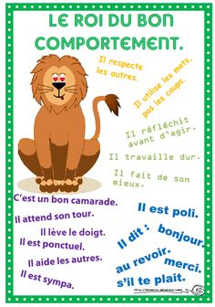 infographie jeunesse We know how to manage his class at school is not easy. Education Positive, Kids Education, Special Education, French Education, French Classroom, Preschool Learning Activities, Positive Reinforcement, Educational Websites, French Language